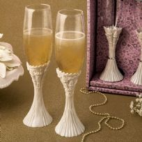Fairytale Cinderella Themed Champagne Toasting Flutes